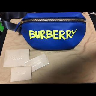 バーバリー(BURBERRY)のバーバリー  グラフィティ バムバッグ ボディバッグ 定価135000円(ボディーバッグ)