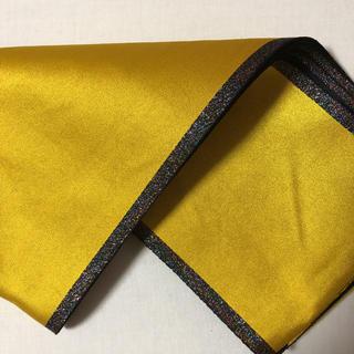 uesd品★黄色・黒色リバーシブル  単衣★半幅帯(浴衣帯)
