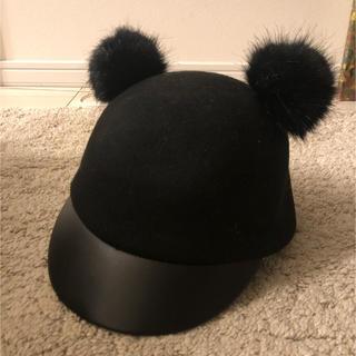 エイチアンドエム(H&M)のH&M ファー耳帽子(ニット帽/ビーニー)