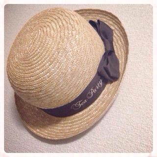 アマベル(Amavel)のamavel 刺繍リボンボーラー帽(ハット)