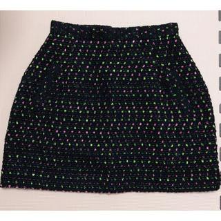 マーキュリーデュオ(MERCURYDUO)のマーキュリーデュオ ツイード台形スカート(ミニスカート)