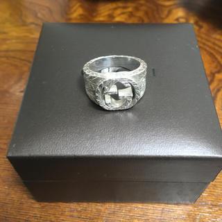 グッチ(Gucci)のGUCCピエロ様専用リング エングレーブ シルバー 18号 指輪(リング(指輪))