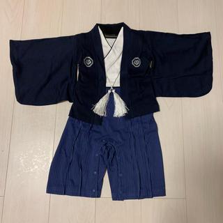 専用 袴 ロンパース 男の子 お祝い お食い初め 美品 90(和服/着物)