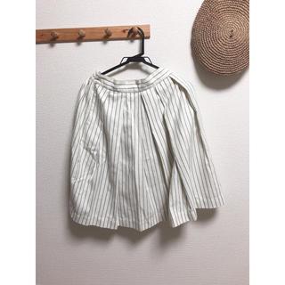 オールオーディナリーズ(ALL ORDINARIES)のストライプ プリーツスカート(ひざ丈スカート)