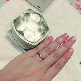 ヨンドシー(4℃)の4℃ リング 指輪 7号 ピンクゴールド(リング(指輪))