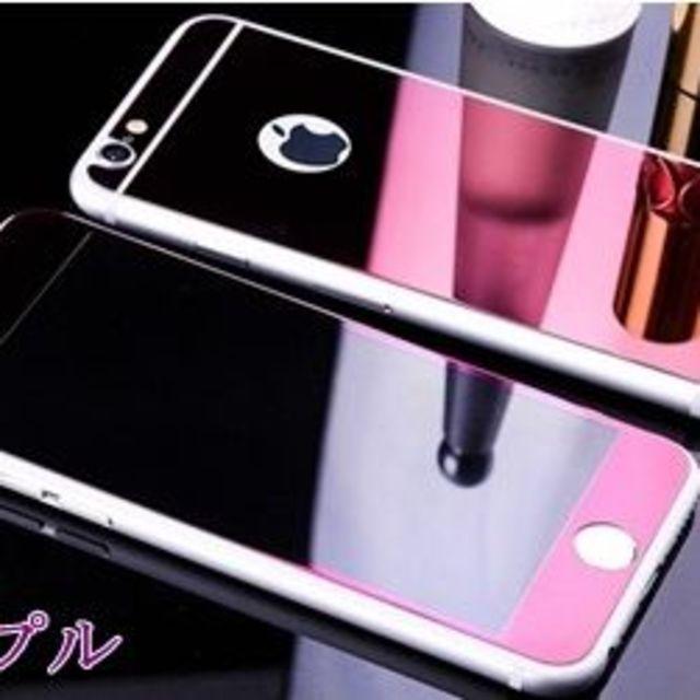 iphone7 カバー ジバンシィ | iPhone6/6S専用 鏡面ガラスフィルム Logoホール付の通販 by R-Lifeショップ@即購入OK♪日曜祝日休み!|ラクマ