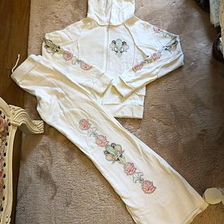 ジューシークチュール(Juicy Couture)の2BFREE トゥービーフリー 白 ホワイト セットアップ パーカー スウェット(トレーナー/スウェット)