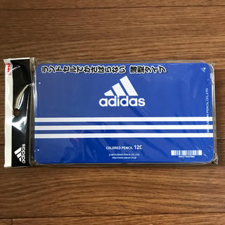 アディダス(adidas)の新品 アディダスadidas★色鉛筆 12色★かさばらない薄型タイプ★ブルー(色鉛筆 )