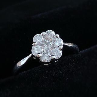 【最終価格】K18 0.5カラット ダイヤモンドホワイトゴールドリング(リング(指輪))