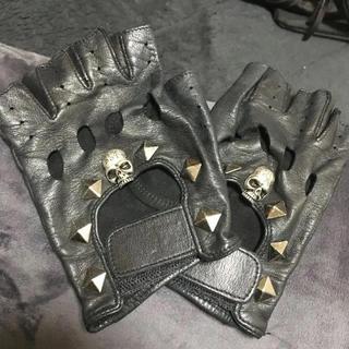 セックスポット(SEXPOT)の三連休価格 ★ SEX POT レザー調 穴あきグローブ ブラック(手袋)