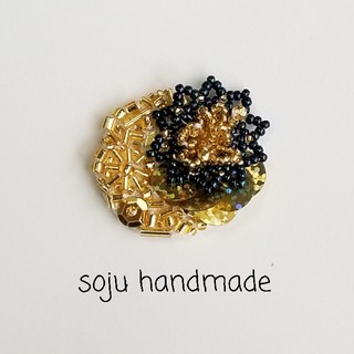 ビーズ編み ビーズ刺繍(コサージュ/ブローチ)