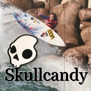 SkullcandyスカルキャンディーUS限定icon型抜ステッカーwhite