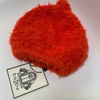 コキチカ(cokitica)のコキチカ モケニットキャップ 限定色 オレンジ Sサイズ(帽子)