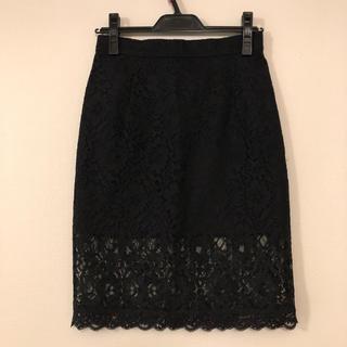 デイシー(deicy)の【りんこ様専用】deicy レースタイトスカート【黒】(ひざ丈スカート)