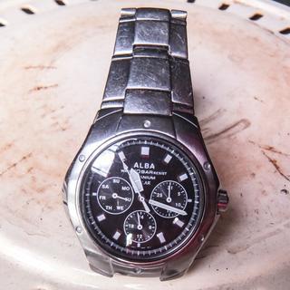 アルバ腕時計 チタンバンド ソーラー