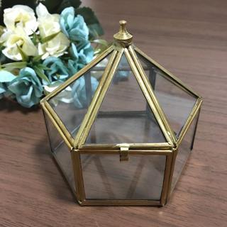 マライカ(MALAIKA)の【送料無料】ガラスケース マライカ  立体六角形 サイズ大 結婚式 ウェディング(リングピロー)