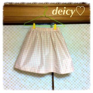 デイシー(deicy)の♡中田えりな©メモリーギンガムスカート♡(ひざ丈スカート)