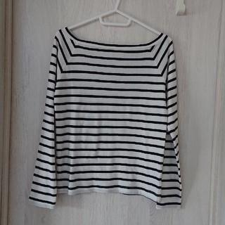 ジーユー(GU)のボーダーロングTシャツ(Tシャツ(長袖/七分))