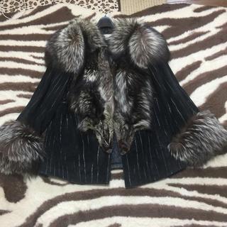 SAGAFOX シルバーFOX豪華なハーフジャケット(毛皮/ファーコート)