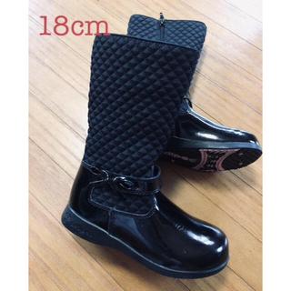 ファミリア(familiar)の定価1万円程 美品✨18cm ペディペド キルティング&エナメルブーツ(ブーツ)