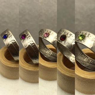 コインリング ラインストーン付き オーダー(リング(指輪))