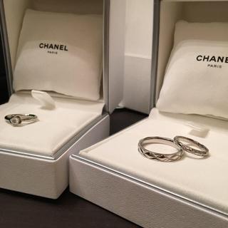 シャネル(CHANEL)のCHANELカメリアとマトラッセの3点セット(リング(指輪))