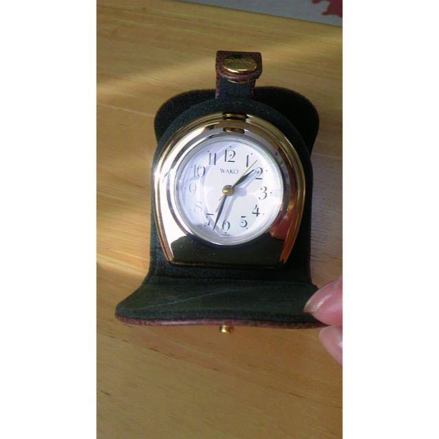 和光堂(ワコウドウ)の銀座 WAKO社製 携帯用置き時計 お値引き インテリア/住まい/日用品のインテリア小物(置時計)の商品写真