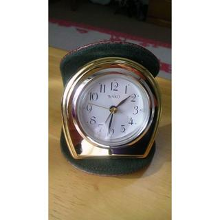 ワコウドウ(和光堂)の銀座 WAKO社製 携帯用置き時計 お値引き(置時計)