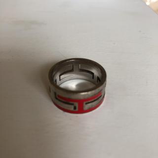 エルメス(Hermes)のHERMES 指輪 ムーブアッシュリング 赤(リング(指輪))