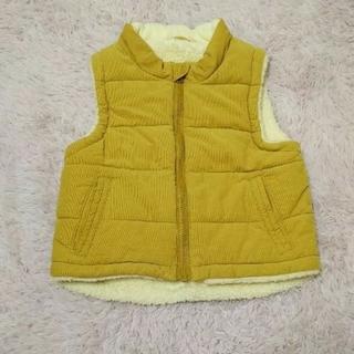 ムジルシリョウヒン(MUJI (無印良品))のダウンベスト 100サイズ キッズ ベージュ(ジャケット/上着)