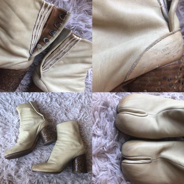 Maison Martin Margiela(マルタンマルジェラ)の【お取引中】マルタンマルジェラ 足袋ブーツ アイボリー サイズ37.5 レディースの靴/シューズ(ブーツ)の商品写真