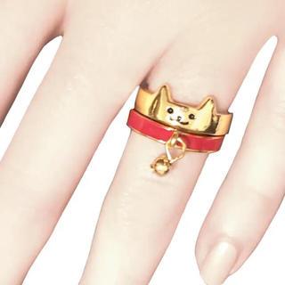 ネコリング・赤(リング(指輪))