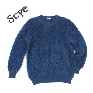 サイ(Scye)のScye ウール ボア ニット size38 ブルー サイ(ニット/セーター)