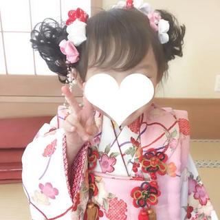 3歳児用着物、髪飾りセット(和服/着物)