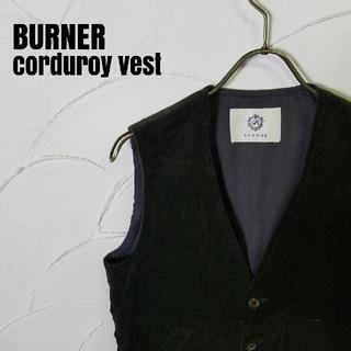 バーナー(Burner)のBURNER/バーナー  ドット柄 コーデュロイ ベスト(ベスト)