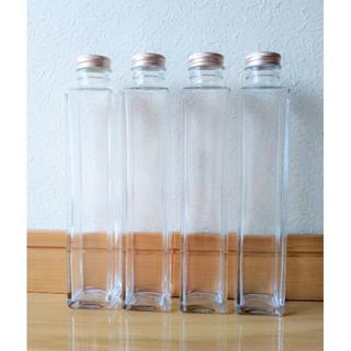 ハーバリウム瓶 四角柱200ml 4本セット(その他)