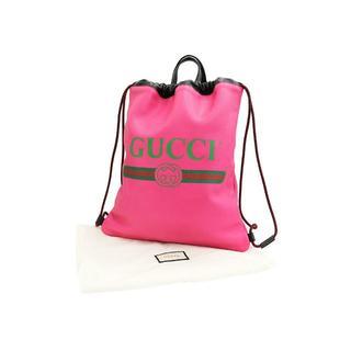グッチ(Gucci)のGUCCI ドローストリング バックパック ピンク A0716(リュック/バックパック)