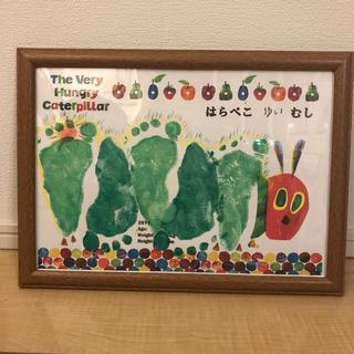 はらぺこあおむし 足型アート 台紙(手形/足形)
