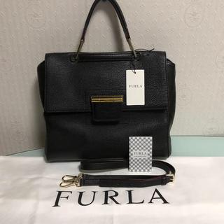フルラ(Furla)のFURLA  フルラ 美品ARTESIA アルテーシア  Mサイズ 人気ブラック(ハンドバッグ)