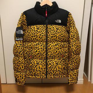 シュプリーム(Supreme)のSupreme North Face Leopard Nuptse 黄 S(ダウンジャケット)