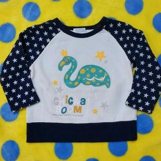 チッカチッカブーンブーン(CHICKA CHICKA BOOM BOOM)のCHICKACHICKABOOMBOOM 90cmフラミンゴアップリケトレーナー(Tシャツ/カットソー)