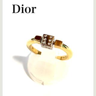 クリスチャンディオール(Christian Dior)のクリスチャンディオール pt900 k18 ダイス サイコロ リング (リング(指輪))