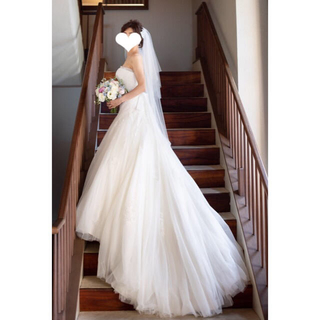 美品 PRONOVIAS プロノビアス  ウェディングドレス (ウェディングドレス)