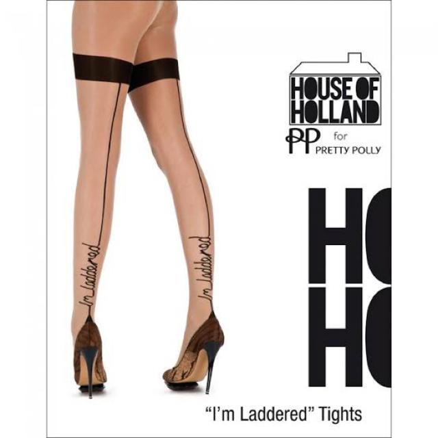 """HOUSE OF HOLLAND(ハウスオブホーランド)のHouse of Holland """"I'm laddered"""" Tights レディースのレッグウェア(タイツ/ストッキング)の商品写真"""
