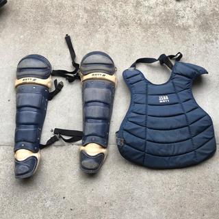 ゼット(ZETT)のsugar様専用軟式野球 ゼット捕手 プロテクターとレガース(防具)