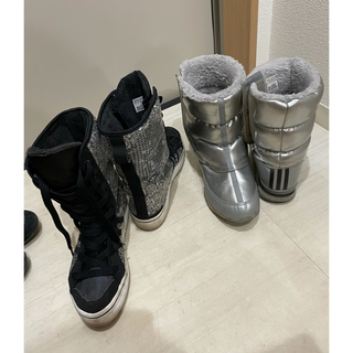 アディダス(adidas)の正規 アディダス  ブーツ スパンコール ペイズリー柄(ブーツ)