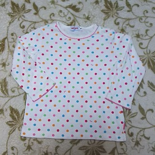ミキハウス(mikihouse)のミキハウス☆オリジナル カラフルドット 長袖シャツ 70~80 美品(シャツ/カットソー)