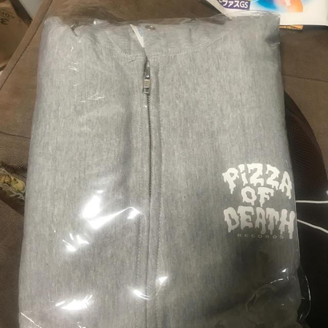 HIGH!STANDARD(ハイスタンダード)のPIZZA OF DEATH ピザオブデス   パーカー 新品グレー XLサイズ メンズのトップス(パーカー)の商品写真