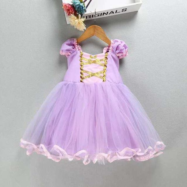 04125c986dc4f とっても可愛い♥ ラプンツェル風 プリンセスドレス ハロウィン衣装 キッズ ベビー マタニティのキッズ