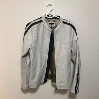 バレンシアガ(Balenciaga)の今市着用 タイプ ホワイトライダースジャケット(ライダースジャケット)